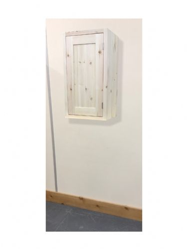 Pine Traditional Style 1 Door Kitchen Wall Unit 300mm wide